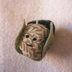 brussel sprout christmas tree decoration sewing project