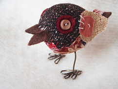 mini christmas robin softie sewing project