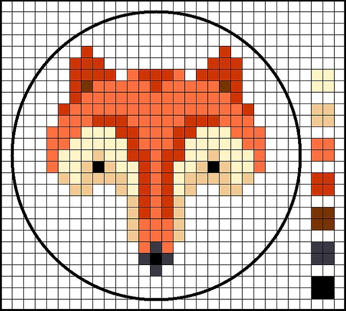 cross stitch fox chart