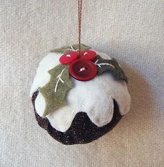 christmas pudding handmade tree decoration