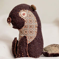 hand sewn beaver softie craft project