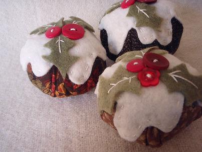 christmas pudding tree decorations handmade