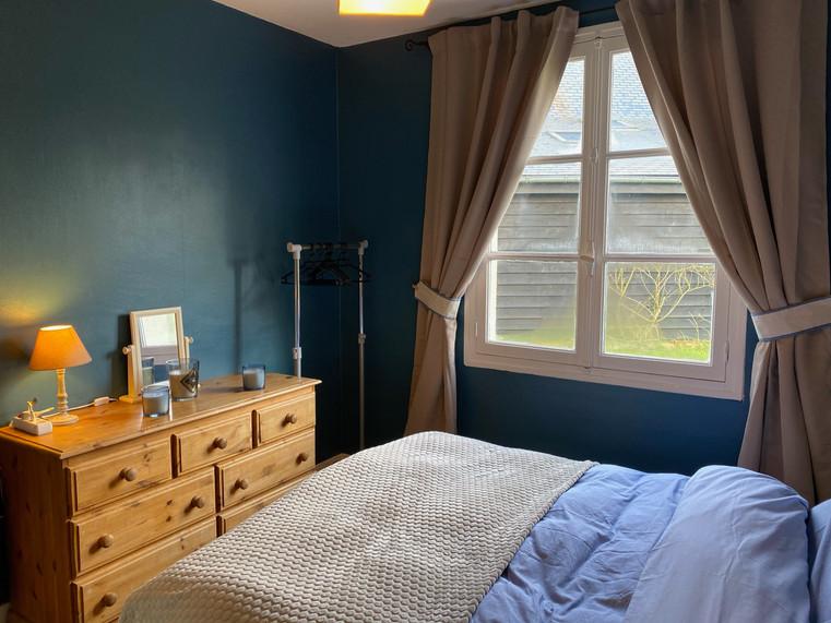 La chambre double Bleu
