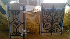 resin castings from original cast iron railings