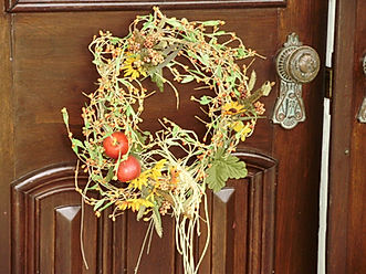 Wreath on Front Door