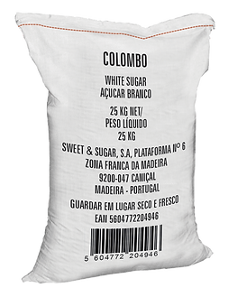 Açúcar colombo white sugar 25kg