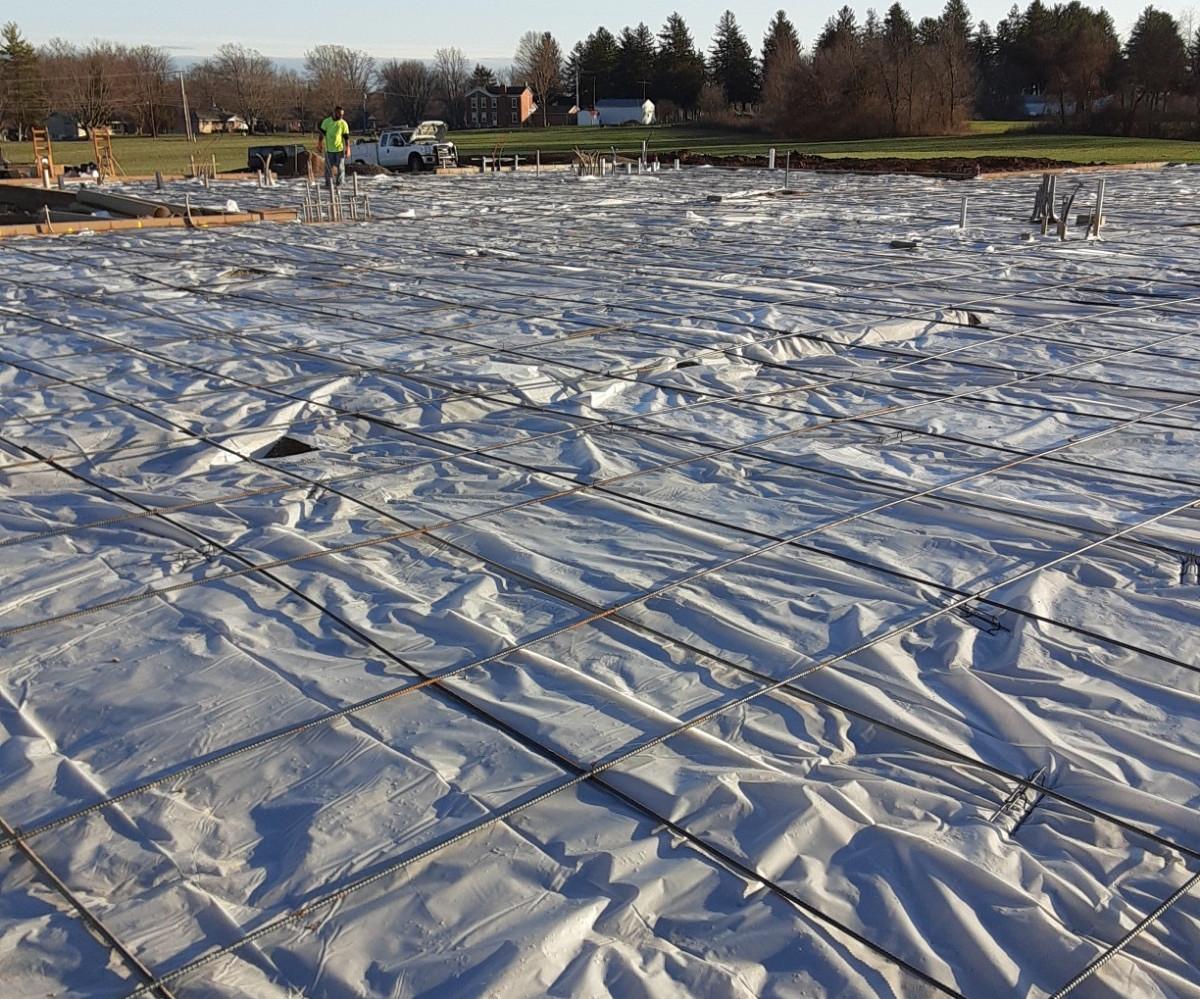 Final Prep before Pouring Concrete Slab Dec. 4, 2020