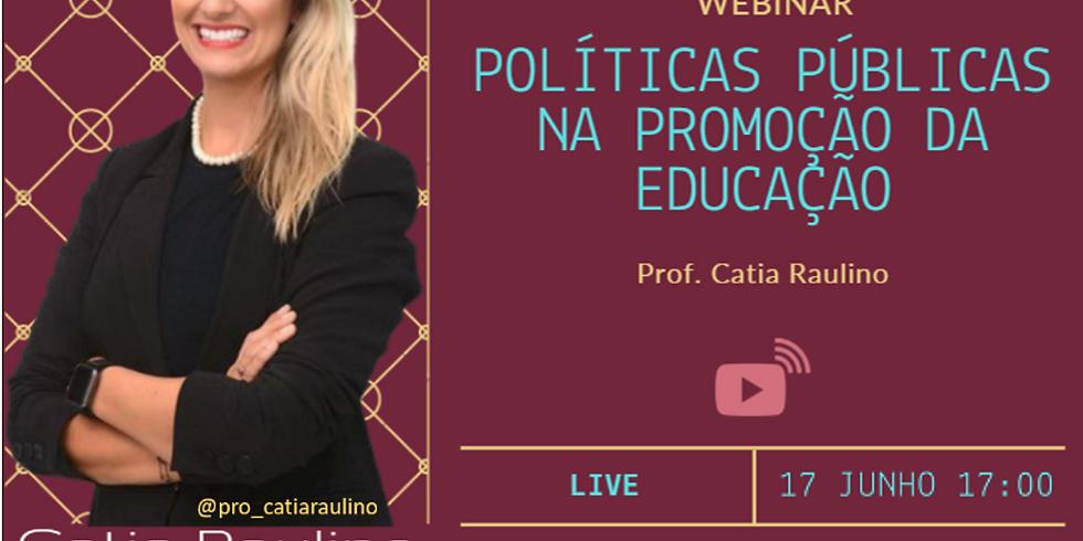 Webinar: Políticas públicas na promoção da educação