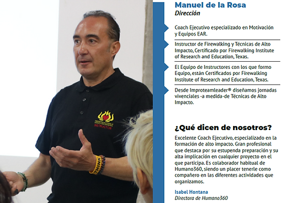 manuel de la rosa #instructor improteaml