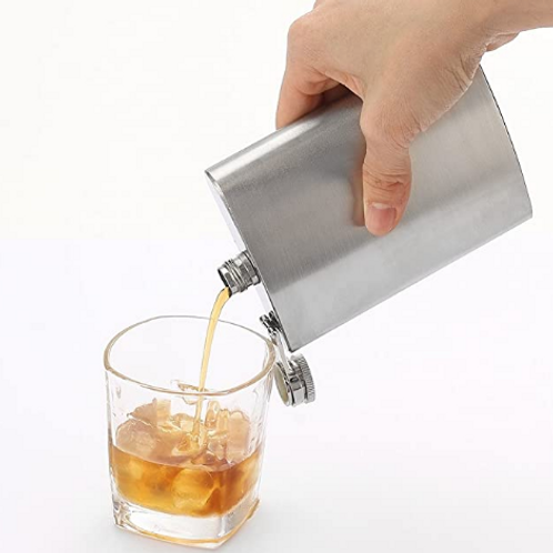 8 oz Hip Stainless Steel Flask