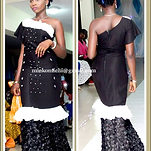 Floor length long monochrome African wear for women
