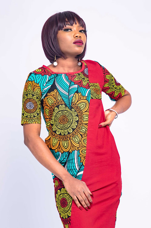 Beautiful African dresses - Front view