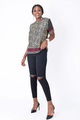 Easy Wear Silk Animal Print Blouse