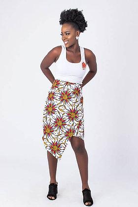 African Print Wrap Skirt | Trendy African Skirt| Formal African Skirt