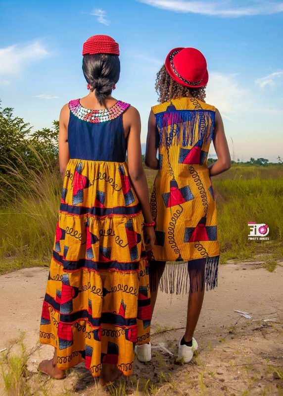 Africa print maternity baby shower dress and african cowboy jacket