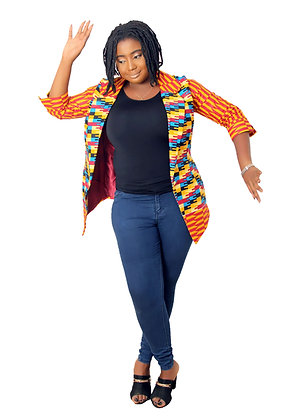 Banke Ankara Jacket for ladies| Kente African print Blazers