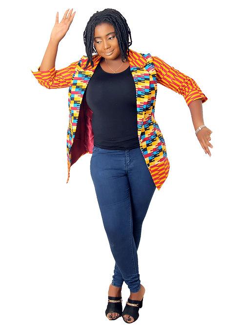 Banke Ankara Jacket for ladies  Kente African print Blazers