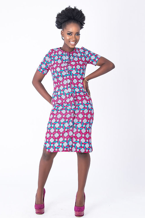 Short African Women Shirt Dress - Ceeci
