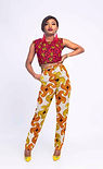 Africa print trousers and culottes for sale. Click to buy online at www.miekomichi.com/shop
