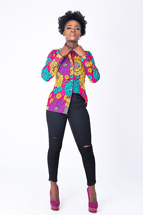 Long Sleeve African Print Shirt | Traditional African Women Shirt – Sweet Ruby