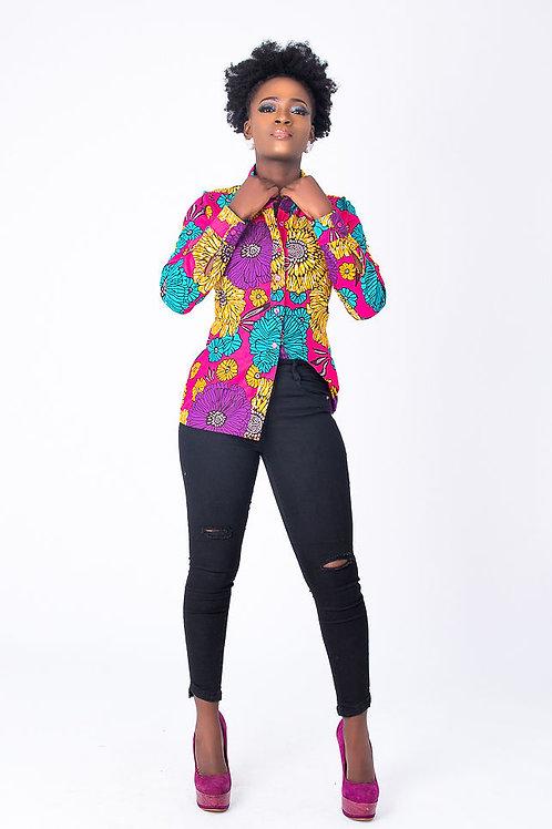 Long Sleeve African Print Shirt | Traditional African Women Shirt – Sweet Ruby