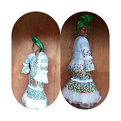 Asoebi dress with african print