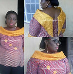 Fully stone embelish African blouse