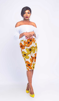 Oluchi African Brown Print Culottes