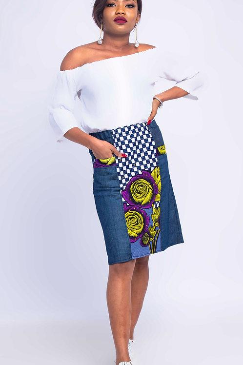 Short African Print Skirt