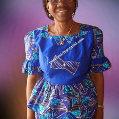Mieko Michi formal African africa print uwe na peplum