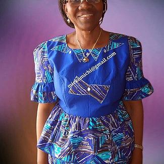 Mieko Michi formal african africa print dress with peplum