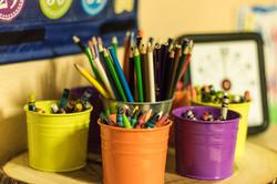 crayon buckets