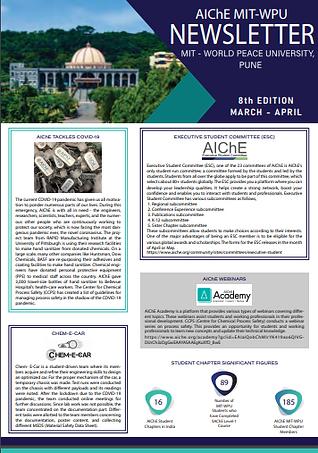 AIChE MIT-WPU Newsletter