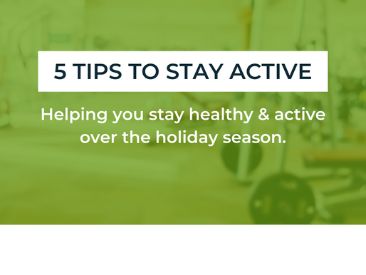 Our 5 tips to stay active over the Christmas period