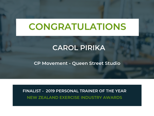 Well Done Carol! - Finalist 2019 PT of the Year