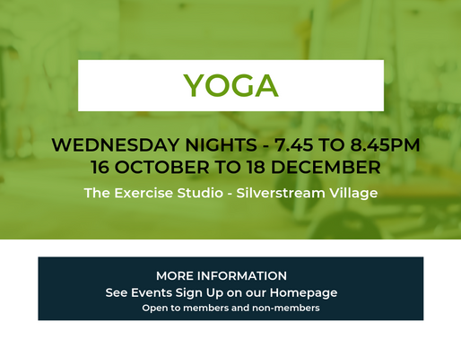 We've added another Yoga Class - Silverstream