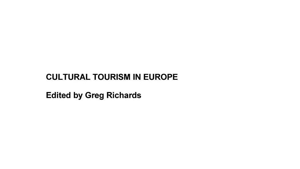 Cultural Tourism in Europe