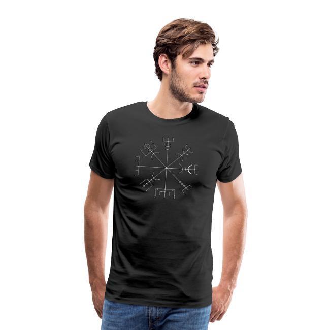 shirt schwarz Design vegvisir nordischer Kompass by Jut Is Viking Spreadshirt Shop