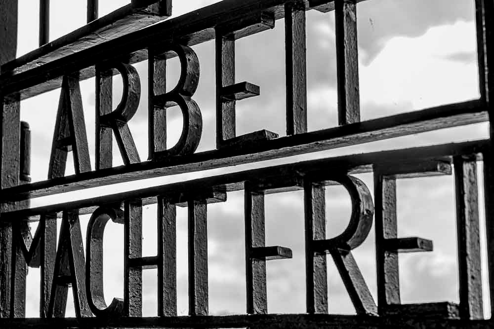 Konzentrationslager, Sachsenhausen, KZ, Schriftzug, Arbeit macht frei