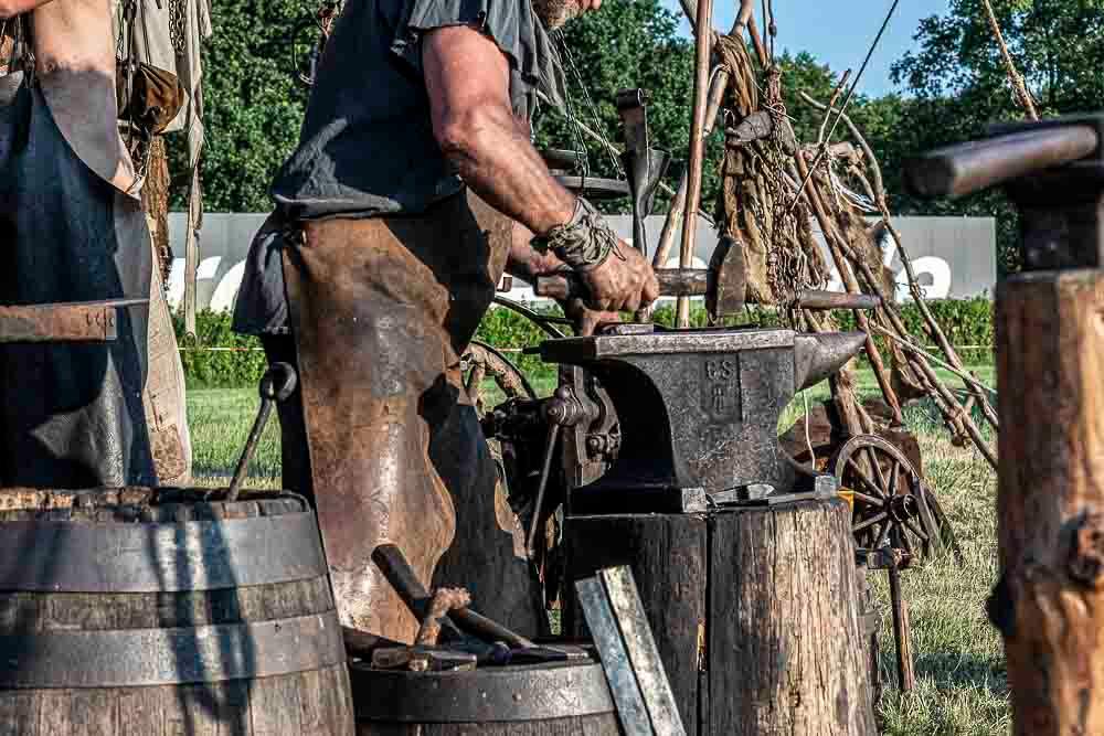 Blacksmiths show their craftsmanship at the MPS Hoppegarten 2019