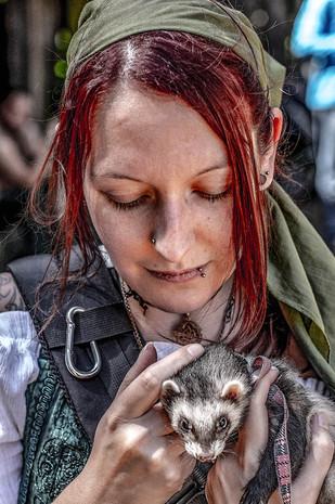 Redhead with ferret princess