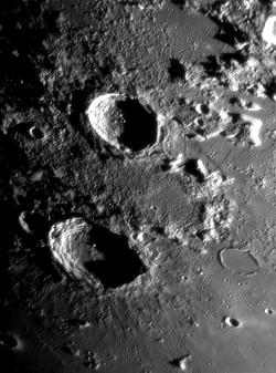 Lune, cratères Eudoxus Aristoteles