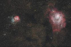 M8 et M20 - Trifid / Laguna nebula