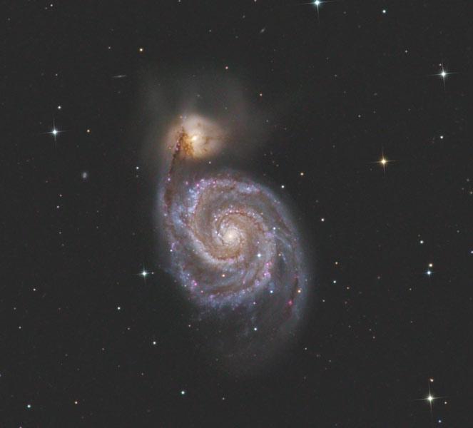 M 51 - Whirlpool galaxy