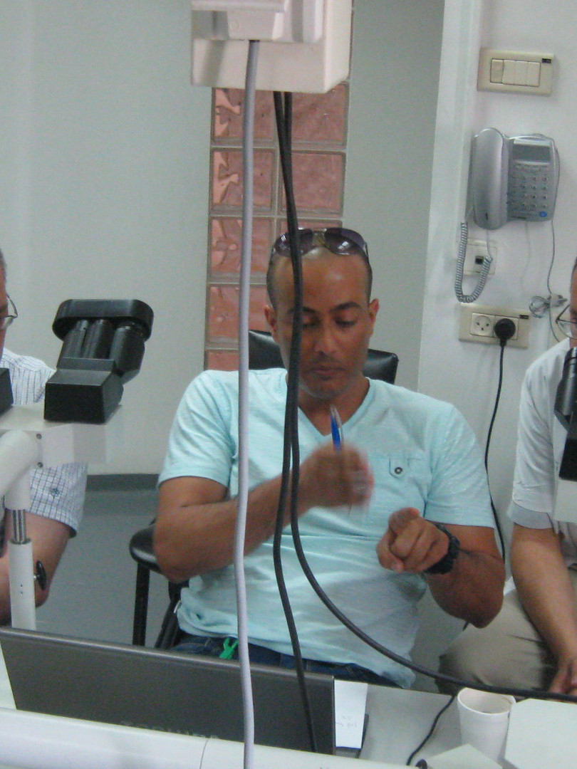 Working with Dr. Victor Dyomin (left) and Dr. Igor Sinelnikov