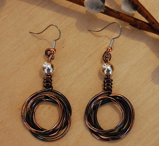 Crazy Coil E4 Copper Sterling bead