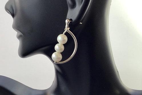 E026 Half Moon Earring