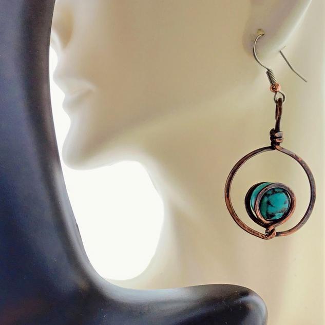 E015 Copper & Turquoise