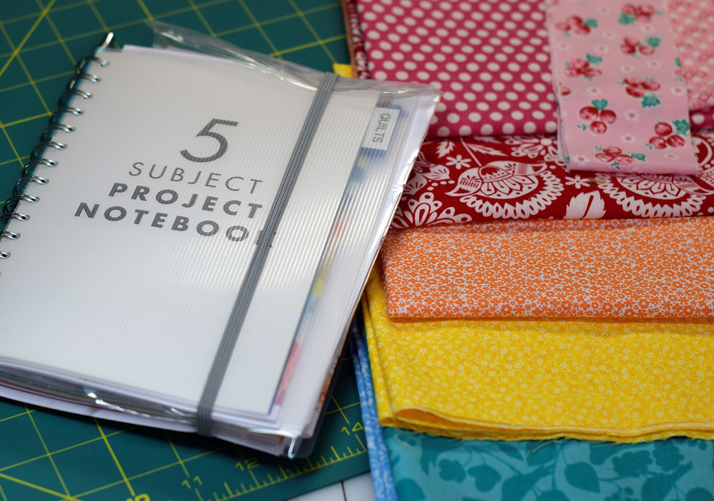 Here's my project book - and also a sneak peak of my first quilt this year!