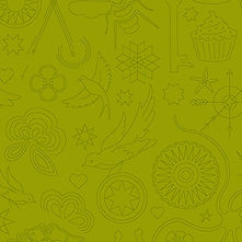 Sun Print 2020 | Alison Glass Fabric | Embroidery - Olive